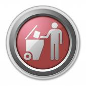 Icon, Button, Pictogram Trash Dumpster — Stock Photo