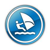Icon, Button, Pictogram Windsurfing — Stock Photo