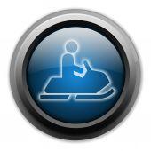Icono, botón, motos de nieve pictograma — Foto de Stock