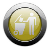 Icon, Button, Pictogram Trash Dumpster — Stock Photo