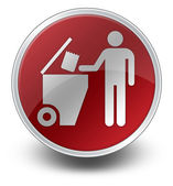 アイコン、ボタン、ピクトグラム ゴミ収集 — ストック写真