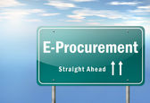 Highway Signpost E-Procurement — Stock Photo