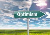 Signpost Optimism — Stockfoto