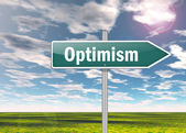 Signpost Optimism — 图库照片