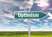 Signpost Optimism — Foto Stock