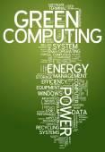 Word Cloud Green Computing — Stock Photo
