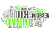 Word Cloud Touch Computing — Stock Photo