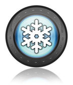 Icon, Button, Pictogram Winter Recreation — Stock Photo