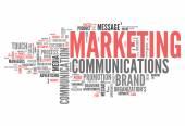 Word Cloud Marketing Communications — Stock Photo