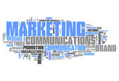 Word Cloud Marketing Communications — Stock Photo