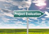 Signpost Project Evaluation — Stock Photo