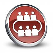 Icon, Button, Pictogram Conference — Stock Photo