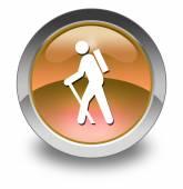 Icono, botón, pictograma senderismo — Foto de Stock