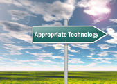 Signpost Appropriate Technology — Stock Photo