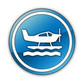 Icon, Button, Pictogram Seaplane — Foto de Stock