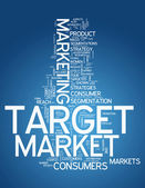 Word Cloud Target Market — Stock Photo