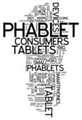 Word Cloud Phablet — Stock Photo