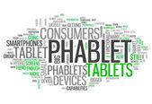 Word Cloud Phablet — Fotografia Stock