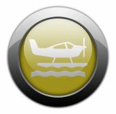 Icon, Button, Pictogram Seaplane — Stock Photo