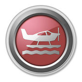 Icon, Button, Pictogram Seaplane — Stock Photo