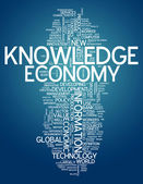 Word Cloud Knowledge Economy — Stock Photo