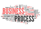 Word Cloud Business Process — Stock Photo