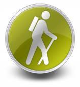 Simge, düğme, piktogram hiking — Stockfoto