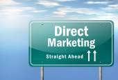 Highway Signpost Direct Marketing — Stock Photo