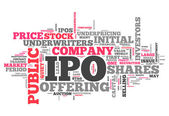 Word Cloud IPO — Stock Photo