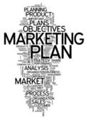 Word Cloud Marketing Plan — Stock Photo