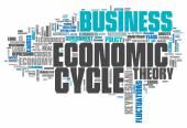 Word Cloud Economic Cycle — Stock Photo