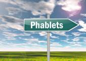 Signpost Phablets — Stock Photo
