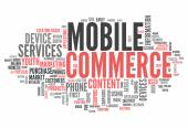 Word Cloud Mobile Commerce — Stock Photo