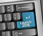 Keyboard Illustration Launch 2016 — Stock Photo