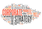 Word Cloud Corporate Strategy — Stock Photo