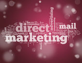 Word Cloud Direct Marketing — Zdjęcie stockowe
