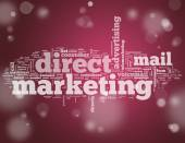 Word Cloud Direct Marketing — 图库照片