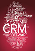 Word Cloud CRM - Customer Relationship Management — Stock Photo