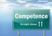 Highway Signpost Competence — Stock Photo