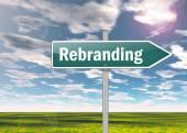 Signpost Rebranding — Stok fotoğraf