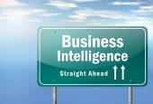 Highway Signpost Business Intelligence — Stock Photo