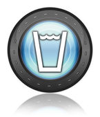 Icon, Button, Pictogram Drinking Water — Stockfoto