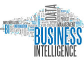 Word Cloud Business Intelligence — Stock Photo
