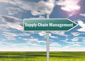 Signpost Supply Chain Management — Stock Photo