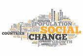 Word Cloud Social Change — Stock Photo
