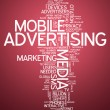 Word Cloud Mobile Advertising — Stock Photo #55779541