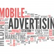 Word Cloud Mobile Advertising — Stock Photo #55779915