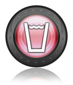 Icon, Button, Pictogram Drinking Water — Stock Photo