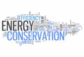 Word Cloud Energy Conservation — Stock Photo