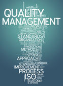 Word Cloud Quality Management — Stock Photo